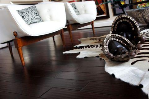 客厅黑色细节混搭风格装饰图片