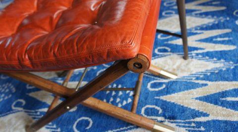 客厅橙色细节混搭风格装潢图片