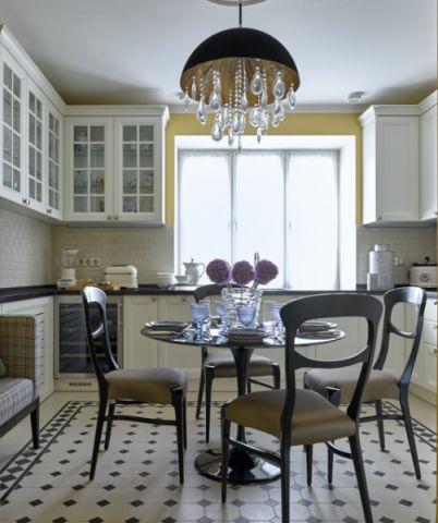 厨房白色细节混搭风格效果图
