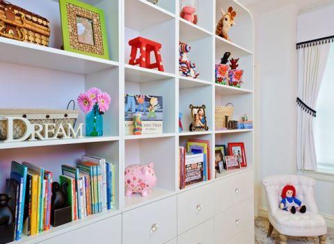 儿童房书架混搭风格效果图