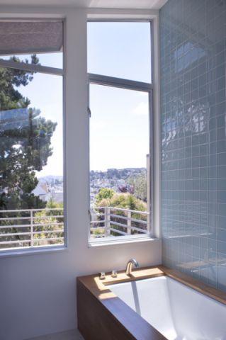 浴室窗台现代风格装潢图片