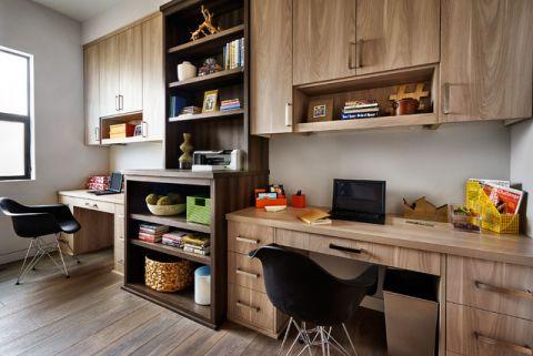 书房书桌现代风格装饰设计图片