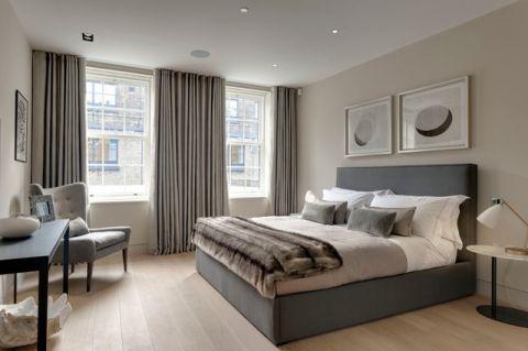 卧室灰色床现代风格装修图片