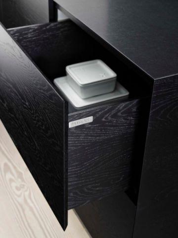 厨房黑色橱柜现代风格效果图