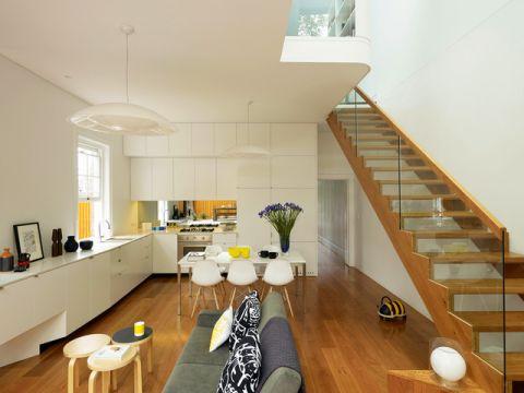 客厅咖啡色楼梯现代风格效果图