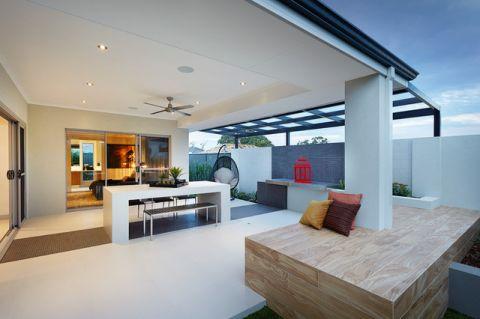 阳台白色吧台现代风格装修效果图