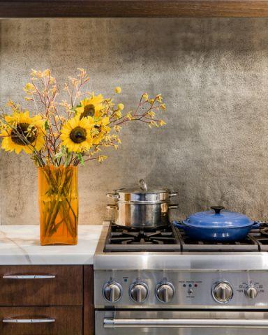 厨房灰色背景墙现代风格装饰效果图