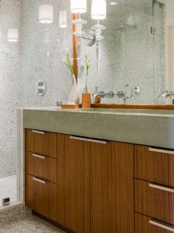 卫生间咖啡色细节现代风格装饰图片