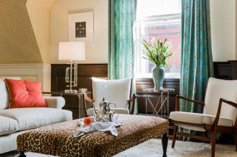 客厅绿色细节现代风格装饰设计图片
