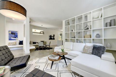 客厅咖啡色细节现代风格装饰设计图片