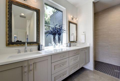 卫生间米色细节现代风格装潢效果图