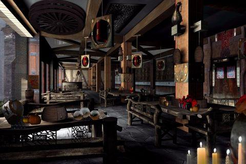 50万大理古城《樱花屋》酒吧装修效果图