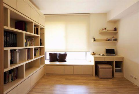 书房地板砖现代简约风格装潢图片