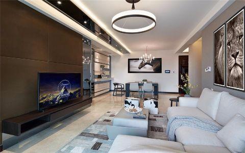 客厅吊顶现代简约风格装潢图片
