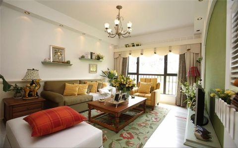 绿城桂花园100平美式风格三居室装修效果图