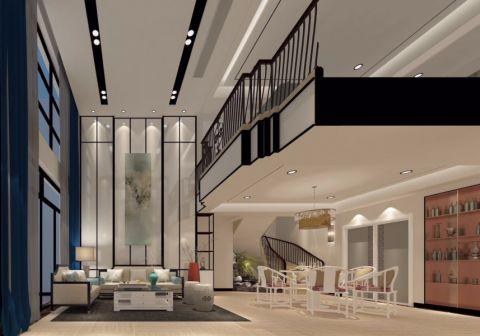 滨江公馆250平方中式风格复式装修效果图