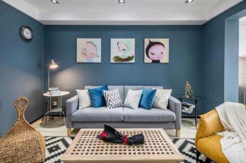 新慧御湖城100平现代简约风格三居室装修效果图