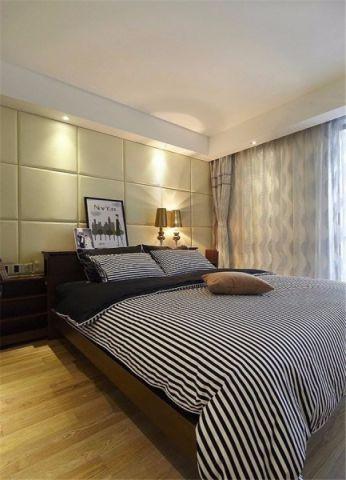 卧室背景墙后现代风格效果图