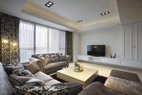 关南社区110平新古典风格三居室装修效果图