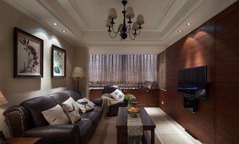 金色港湾110平美式风三居室装修效果图