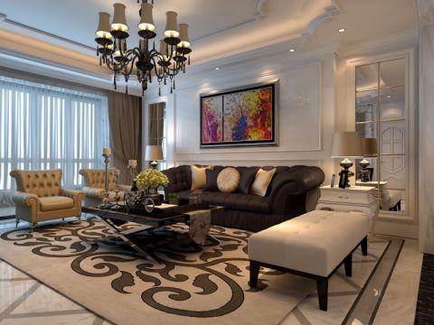 中州中央城邦160平欧式风格三居室装修效果图
