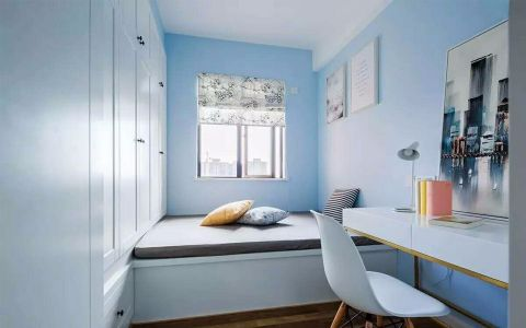 书房榻榻米北欧风格装潢设计图片