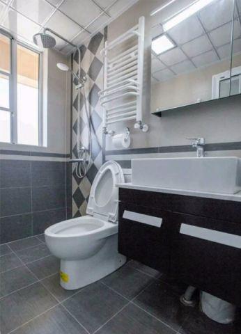 卫生间地砖北欧风格装修图片