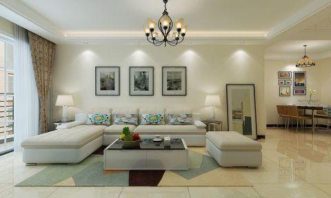绿地滨湖印象102平米现代风格三室装修效果图
