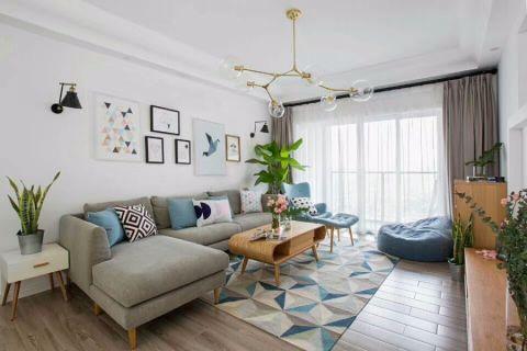 北欧风格110平米公寓新房装修效果图