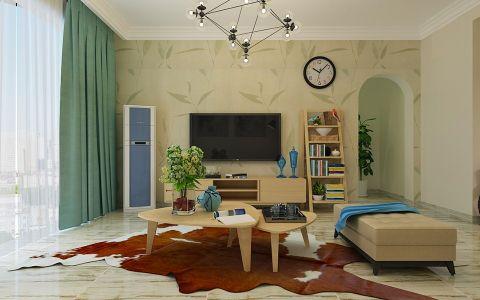客厅背景墙北欧风格装潢图片