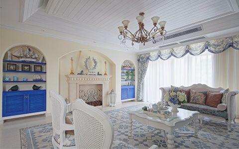 燕语庭111平米地中海风格三居室装修效果图