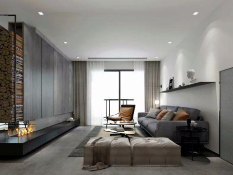 彩虹城120平方简约风格公寓装修效果图