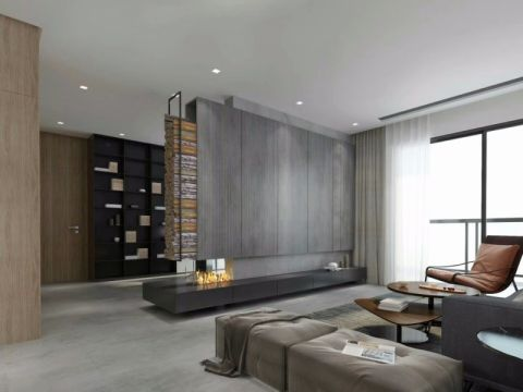 客厅背景墙简约风格装潢设计图片