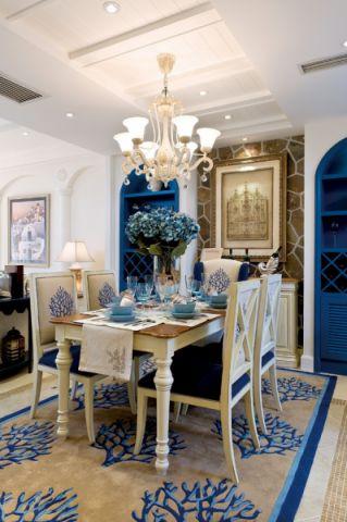 餐厅吊顶地中海风格装潢设计图片