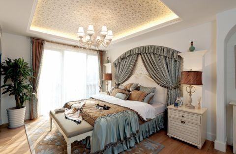 卧室床头柜地中海风格装饰设计图片