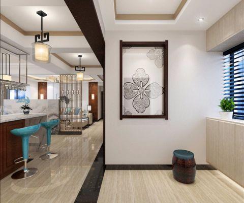 滨海俊园138平米新中式三居室装修效果图
