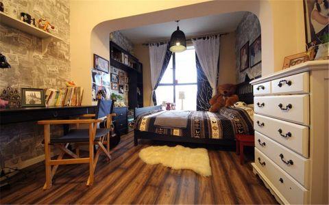 卧室窗帘乡村风格装潢设计图片