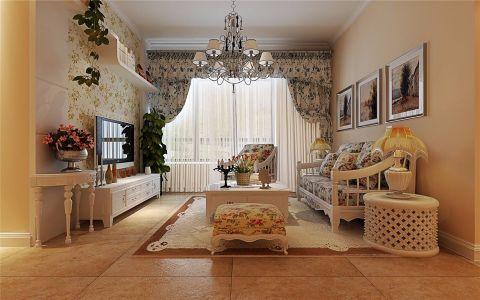 三木公园里120平米乡村风格三居室装修效果图