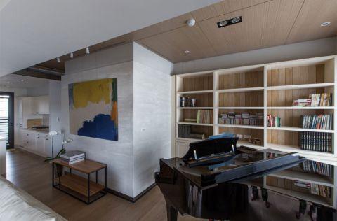 书房吊顶现代简约风格效果图