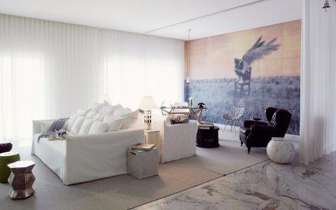 首义小区120平现代简约风格三居室装修效果图