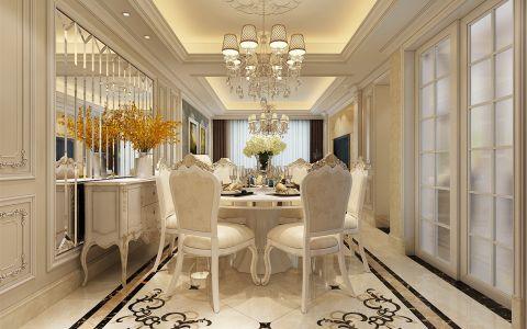 餐厅推拉门欧式风格装修设计图片