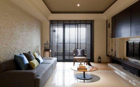 莱蒙城120平现代风格三居室装修效果图