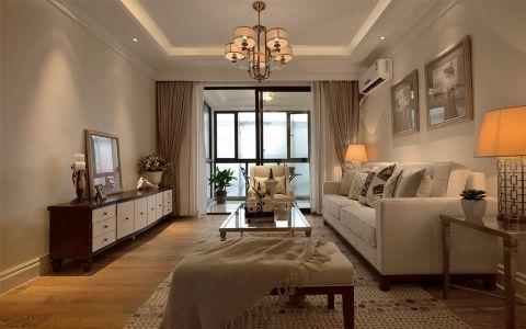 青秀城90平米三居室美式风格装修效果图