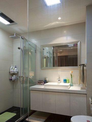 卫生间推拉门简单风格装潢图片