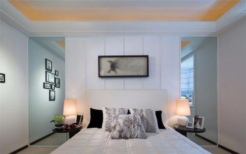 卧室背景墙后现代风格装饰设计图片