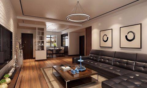 客厅背景墙新中式风格效果图