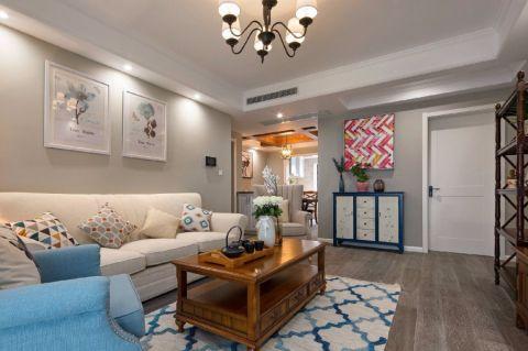 上宅100三居室美式风格装修效果图