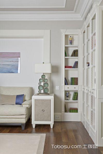 客厅白色灯具现代风格装潢设计图片