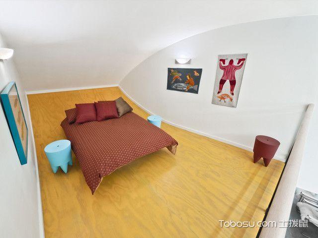 卧室红色榻榻米现代风格装修图片