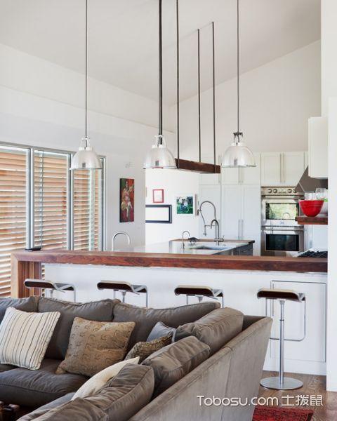 2019现代厨房装修图 2019现代吧台装饰设计
